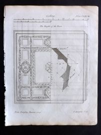 Langley 1777 Antique Architectural Print. Ceiling 168